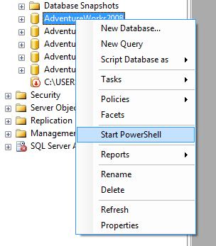 PowerShell in Management Studio
