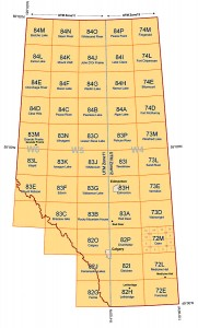 Alberta's NTS areas (courtesy Alberta Geological Survey)