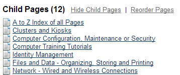 child pages